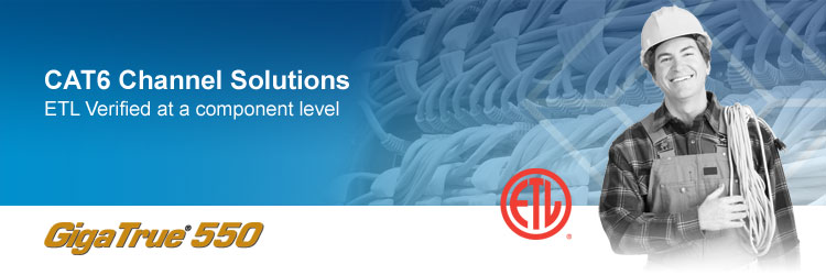 CAT6 ETL Verified structured cabling channel solutions
